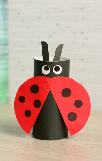 Crafts With Paper For Kids Kids Craft Paper Tube Ladybug Blitsy