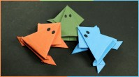 Crafts With Paper For Kids Origami Frog That Jumps Easy Fun Paper Craft For Kids Youtube