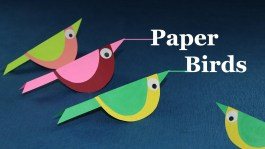 Crafts With Paper For Kids Paper Crafts For Kids How To Make Paper Bird Very Easy Youtube