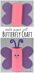 Crafts With Paper For Kids Toilet Paper Roll Butterfly Craft The Resourceful Mama Pinterest