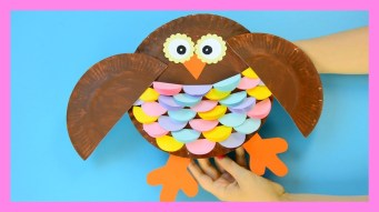 Crafts With Paper Plates For Preschoolers Owl Paper Plate Craft For Kids Youtube