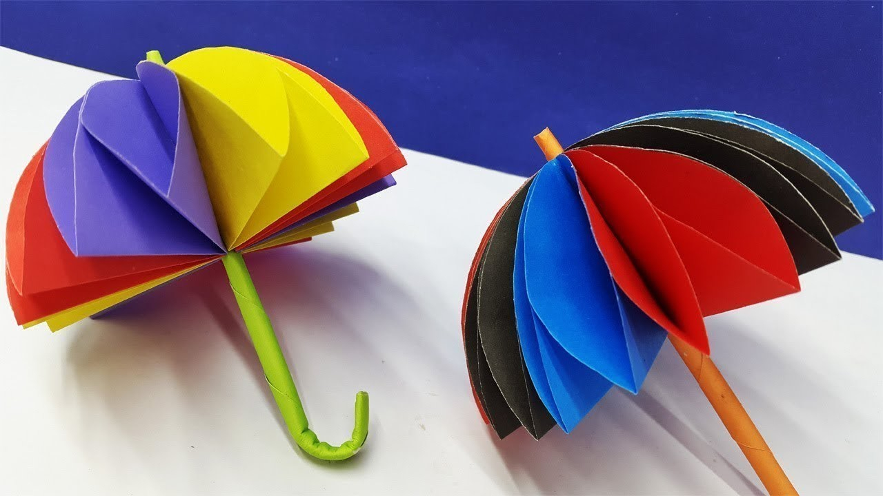Create paper umbrella craft for party glass decor How To Make A Awesome Paper Umbrella Diy Paper Craft Umbrella