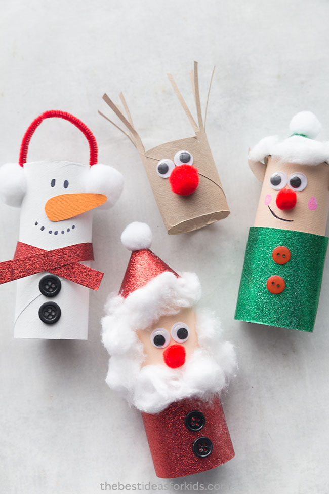 Creative crafts with toilet paper roll Christmas Toilet Paper Roll Crafts The Best Ideas For Kids