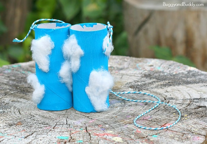 Creative crafts with toilet paper roll Toilet Paper Roll Binoculars Craft For Cloud Observation Buggy And