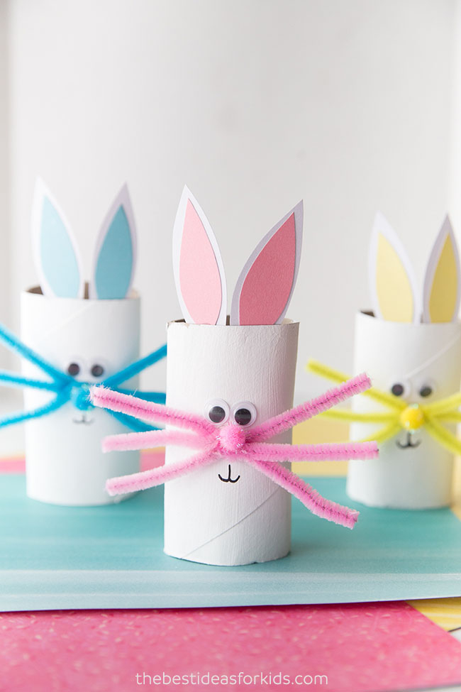 Creative crafts with toilet paper roll Toilet Paper Roll Bunny The Best Ideas For Kids