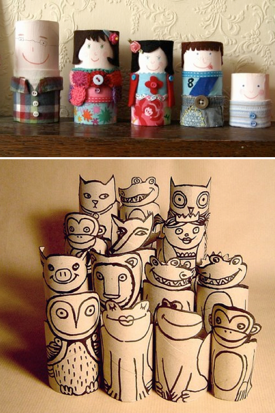 Creative crafts with toilet paper roll Toilet Paper Roll Crafts Kids Kub