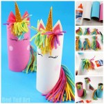 Creative Crafts With Toilet Paper Roll Toilet Paper Roll Unicorn For Preschoolers Red Ted Art