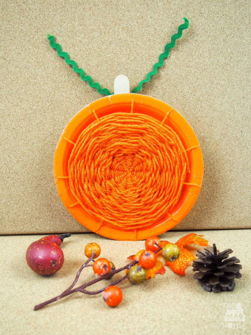 Creative ideas for pumpkin paper crafts design Pumpkin Paper Plate Weaving Mum In The Madhouse
