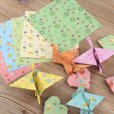 Diy Crafts With Paper 72pcs Mixed Fruit Pattern Origami Paper Folded Papers Diy Craft