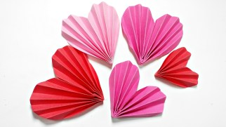 Diy Crafts With Paper Origami Heart 3d For Decorationdiy Crafts Paper Hearts Design