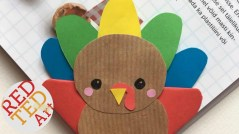 Easy Construction Paper Crafts Easy Turkey Bookmark Corner Fun Thanksgiving Diy Paper Crafts