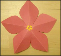 Easy Construction Paper Crafts Paper Poinsettia Craft Kraftykid