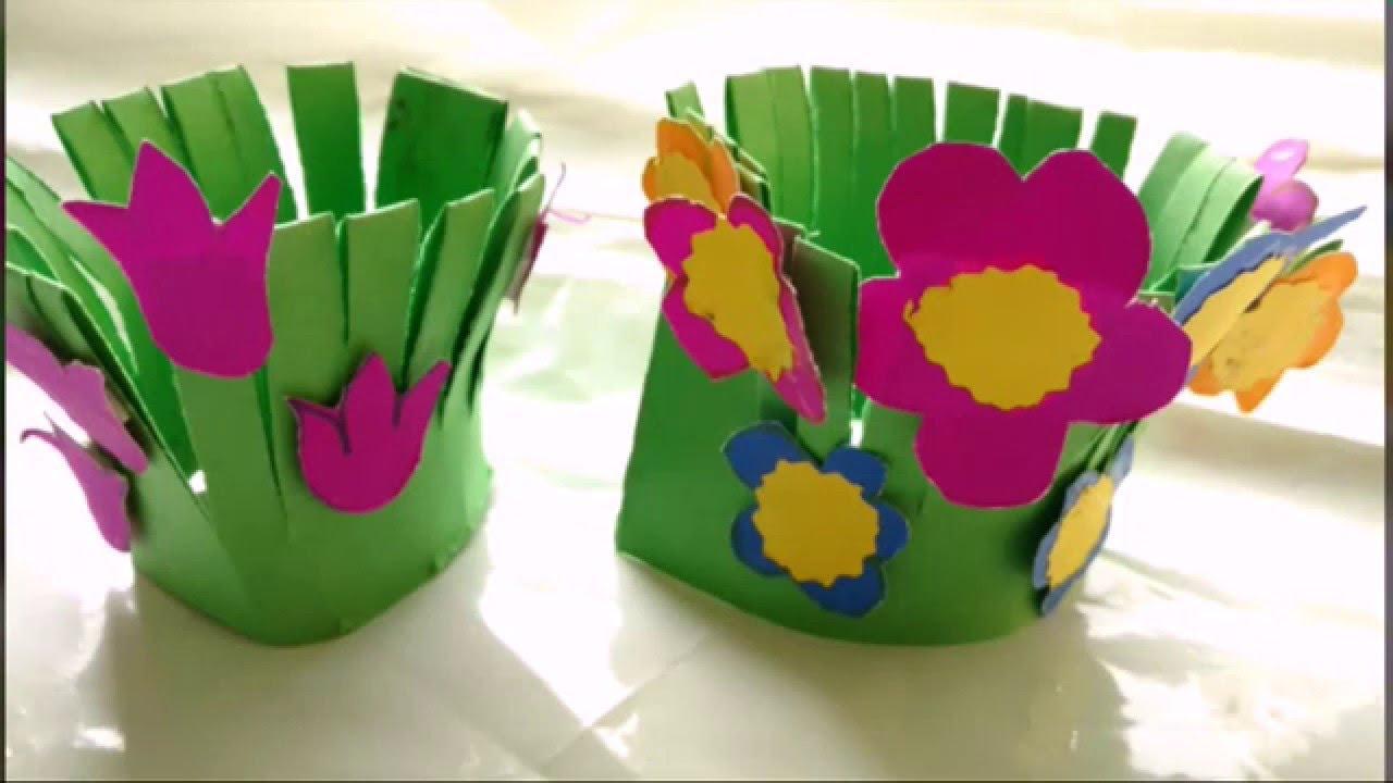 Easy Paper Craft Ideas For Kids Easy Paper Craft Flower Garden Making For Kids Paper Craft Diy
