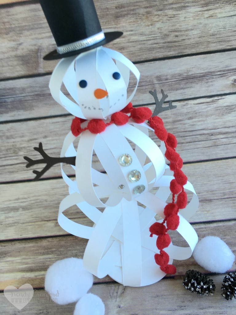 Easy Paper Craft Ideas For Kids How To Make A Snowman Craft With Paper Strips The Crafty Blog Stalker
