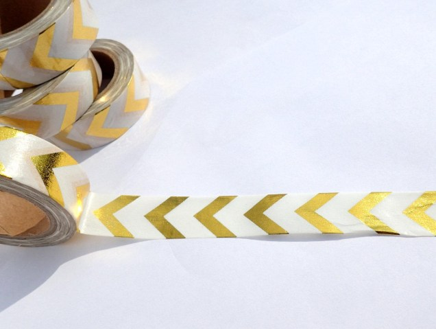 Foil Paper Crafts Gold Chevron Foil Washi Tape Paper Tape Great For Scrapbooking