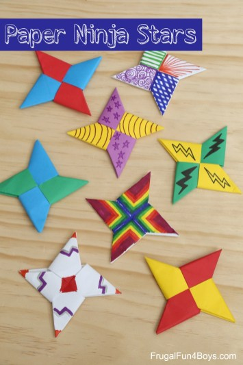 Fun Crafts With Construction Paper How To Fold Paper Ninja Stars Frugal Fun For Boys And Girls