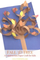 Fun Crafts With Construction Paper How To Make An Easy 3d Fall Construction Paper Tree Easy Crafts