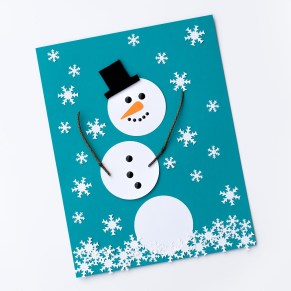 Fun Crafts With Construction Paper The Happiest Paper Snowman Craft For Kids Fireflies And Mud Pies