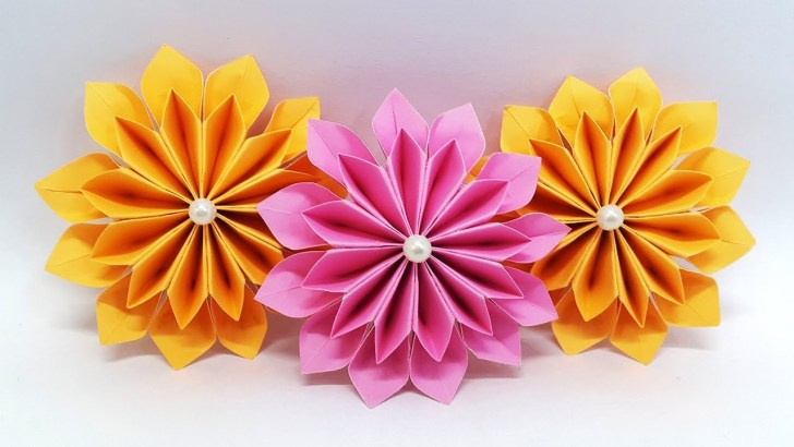 Giant paper flowers for crafting as wall decor