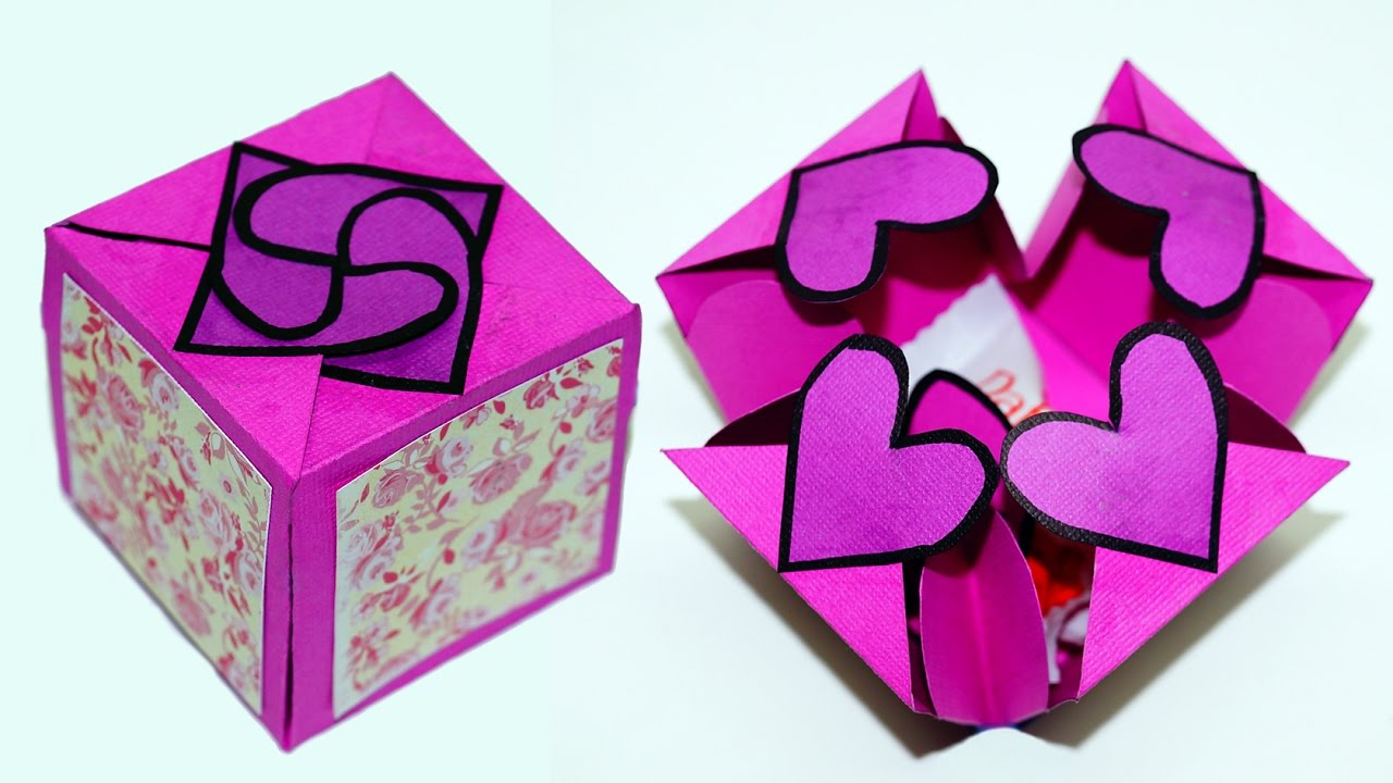 Handmade Paper Craft Gifts You can Make Right Now Diy Paper Crafts Idea Gift Box Sealed With Hearts A Smart Way To