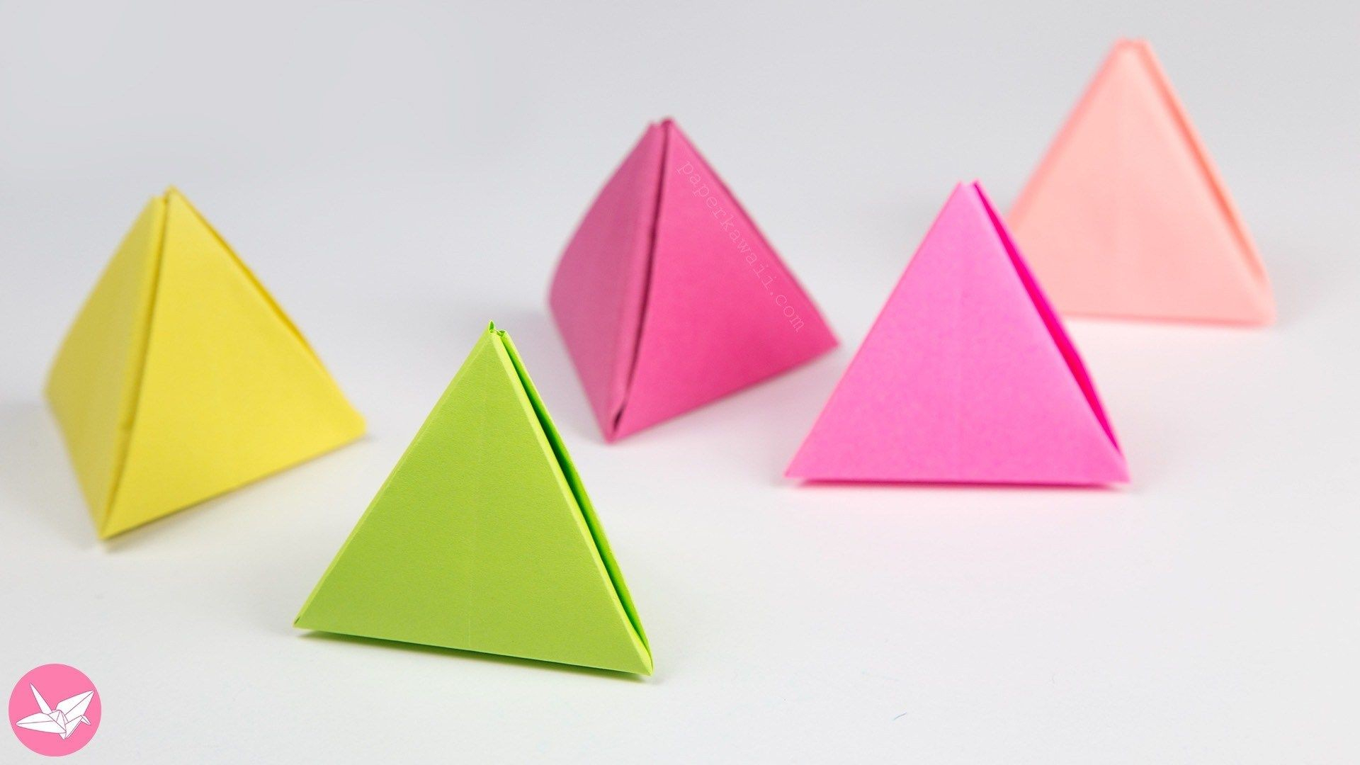 Handmade Paper Craft Gifts You can Make Right Now Pyramid Papercraft Origami Pyramid Gift Box Pot Or Decoration