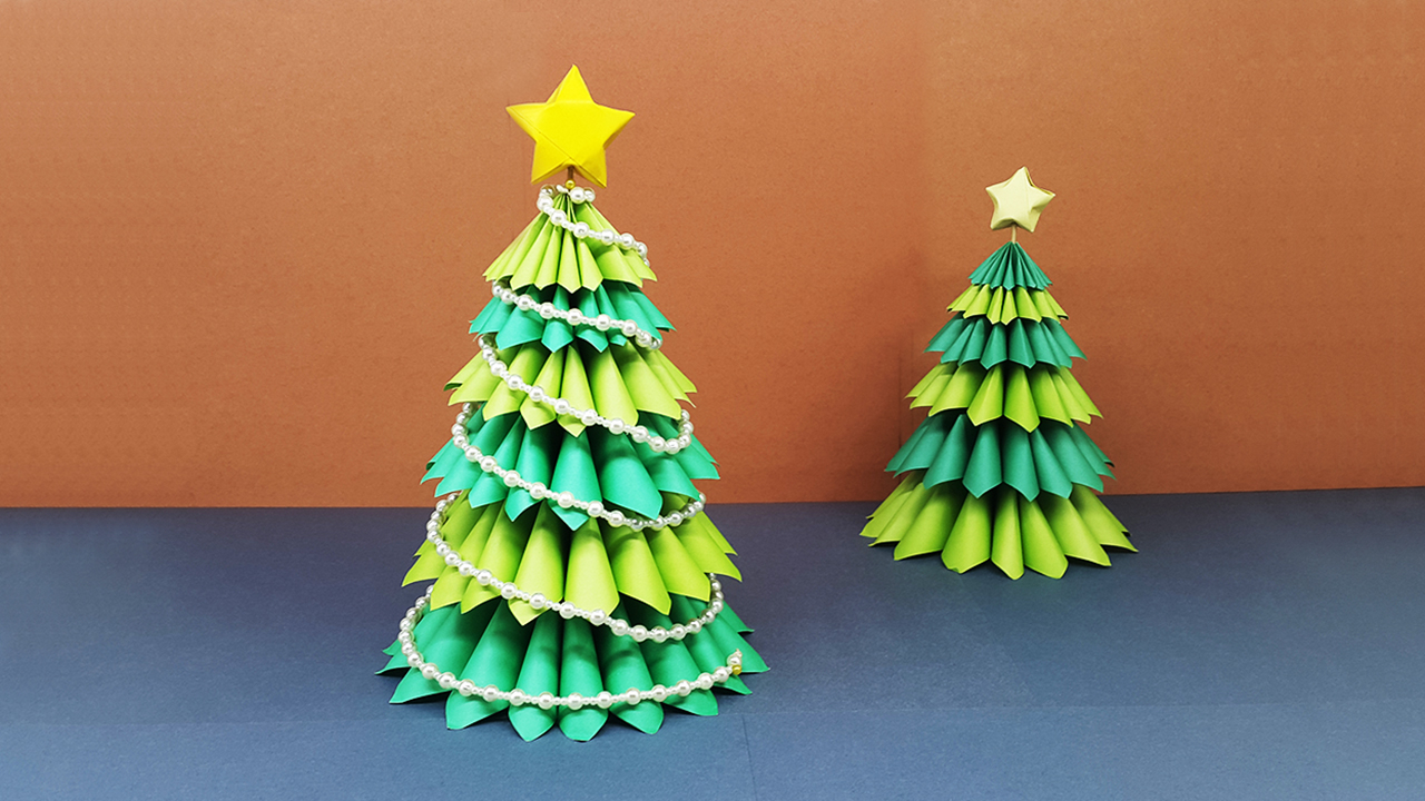Home crafts you can make with paper Colors Paper How To Make A Beautiful 3d Paper Christmas Tree