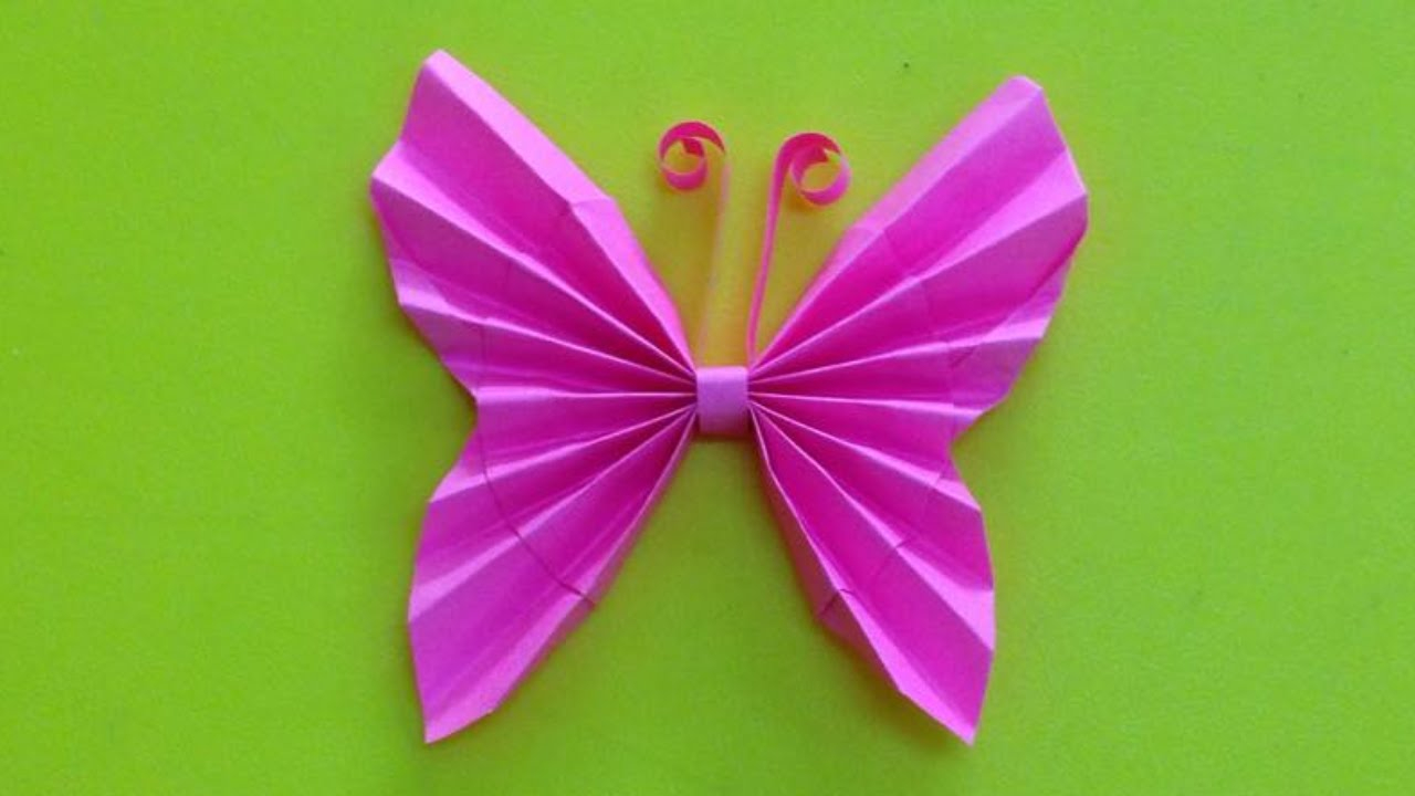 How to Make a Paper Crafts for Gifts How To Make A Paper Butterfly Easy Origami Butterflies For