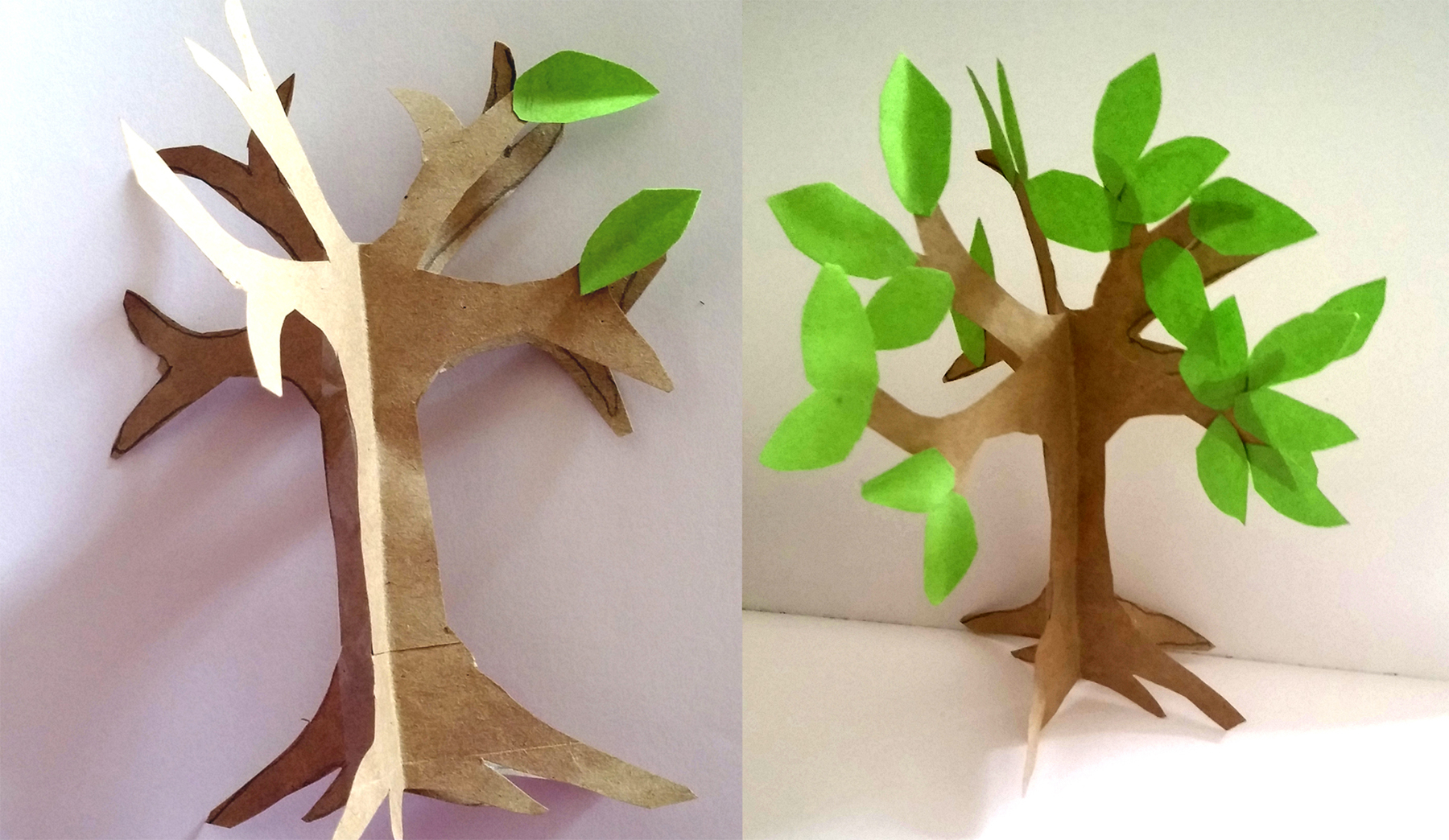 How to Make a Paper Crafts for Gifts How To Make An Easy Paper Craft Tree Imagine Forest