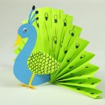 How To Make A Paper Crafts For Gifts Paper Crafts For Kids Easy Blue And Neon Peacock With Paper Youtube