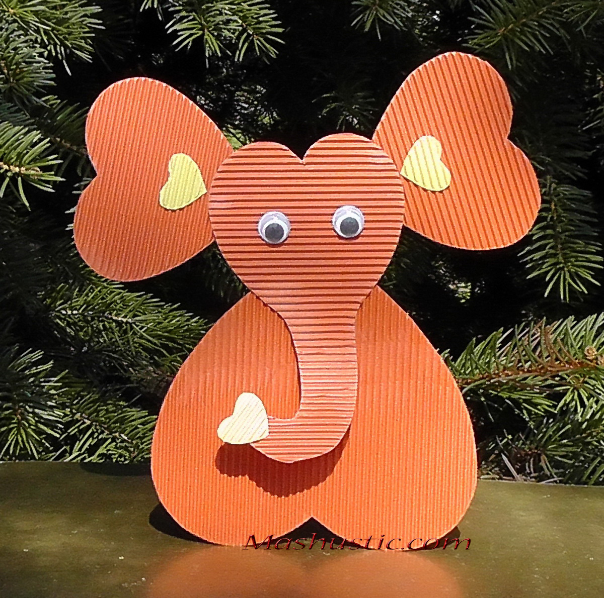 How to Make an Elephant Paper Craft Fun Crafts for Kids An Elephant Out Of Paper Hearts Mashustic