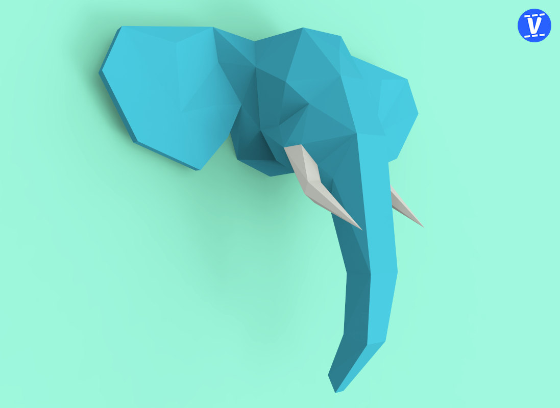 How to Make an Elephant Paper Craft Fun Crafts for Kids Elephant Head 2 Papercraft Pdf Pack 3d Paper Sculpture Etsy