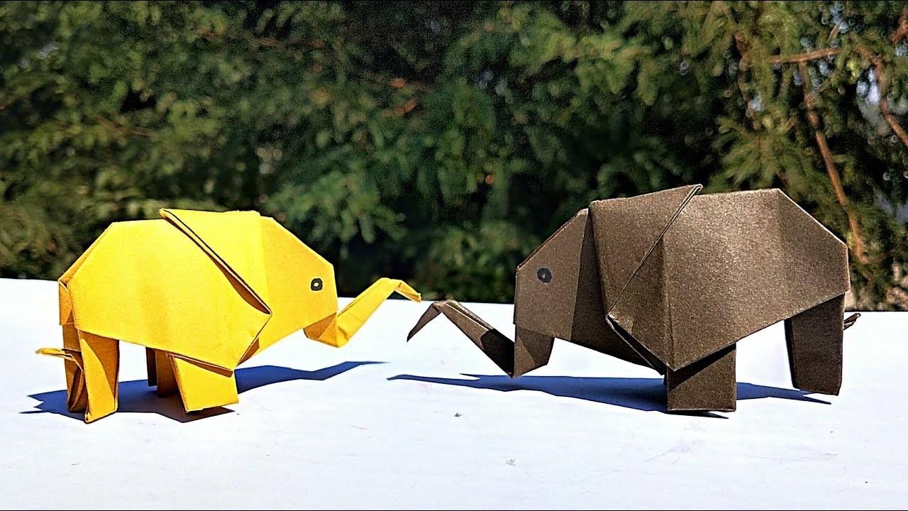 How to Make an Elephant Paper Craft Fun Crafts for Kids How To Make Origami Elephant Paper Elephant Diy Paper Craft