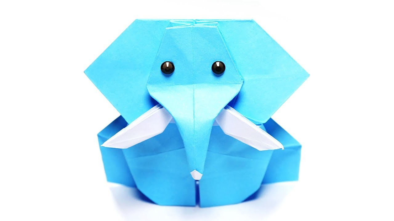 How to Make an Elephant Paper Craft Fun Crafts for Kids Origami Elephant Easy Jo Nakashima Paper Crafts 1101 Youtube