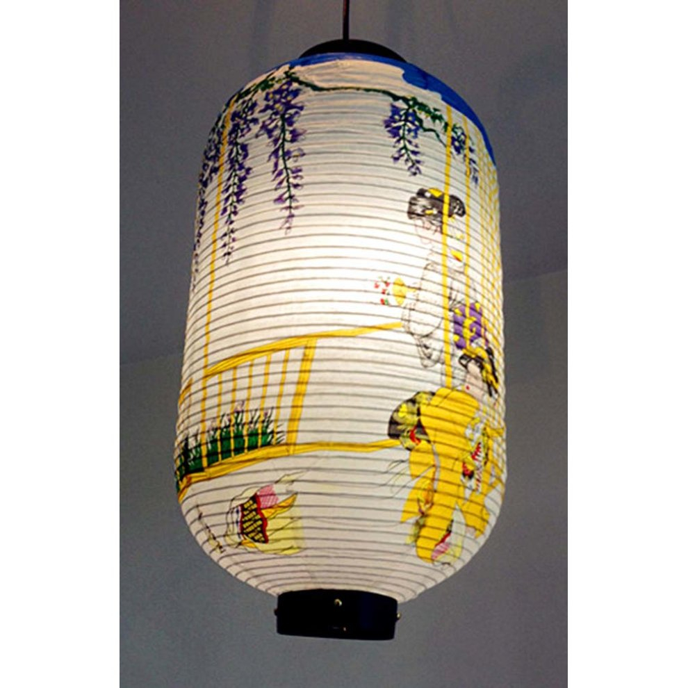How to Make Japanese Paper Lanterns Craft for Kids Blue And White Chinesejapanese Style Hanging Lantern Decorative