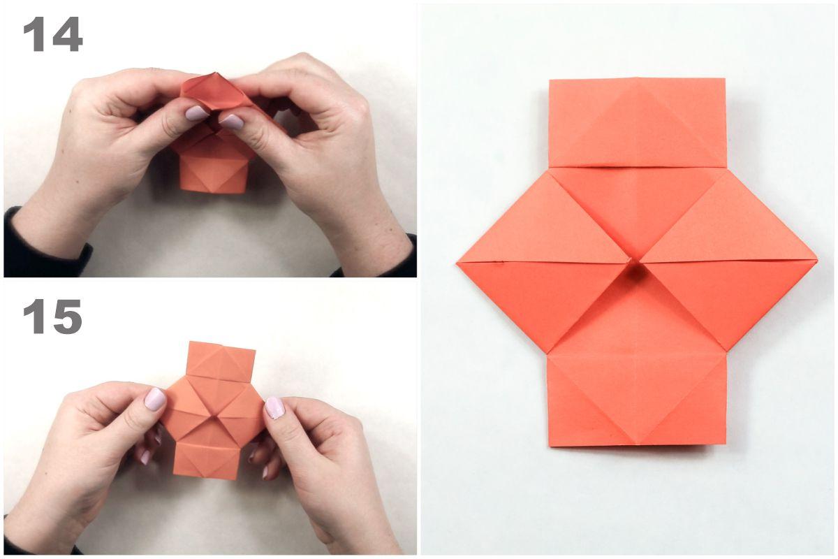 How to Make Japanese Paper Lanterns Craft for Kids Origami Lantern Tutorial