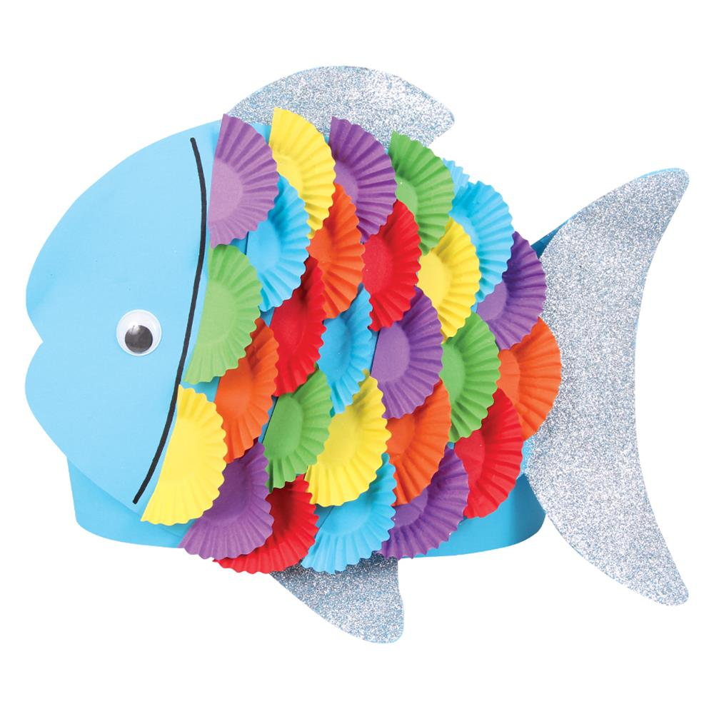 How to Make Paper Craft Fish for Kids Fish Hat Blm Paper Card Cleverpatch Art Craft Supplies