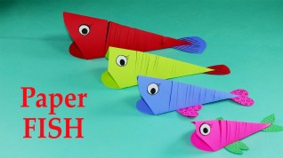 Kids Paper Crafts Paper Crafts For Kids Easy Paper Fish Crafts Diy Tutorial Youtube