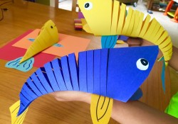Kindergarten Paper Crafts How To Make Moving Fish Paper Craft Kindergartenklub