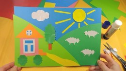Kindergarten Paper Crafts Paper Crafts For Kids Summer Collage Art Class Project Idea For