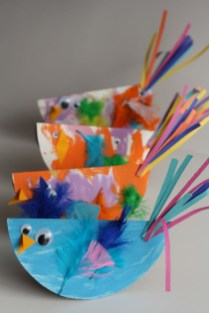 Kindergarten Paper Crafts Paper Plate Bird Craft For Kids Easy And So Cute Must Do Crafts