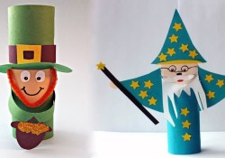 Leprechaun Toilet Paper Roll Craft Craft Ideas Using Empty Toilet Paper Rolls Youtube