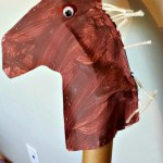 Make Reuse Crafts With Wrapping Paper Leftover Kids Horse Craft Made From A Wrapping Paper Tube Crafty Morning