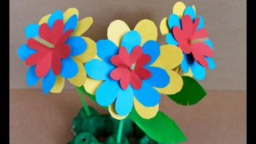 Paper Craft Flowers Bouquet Easy Paper Craft How To Make Paper Flowers Youtube