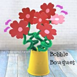 Paper Craft Flowers Bouquet Flower Bouquet Craft Red Ted Arts Blog
