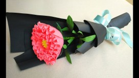 Paper Craft Flowers Bouquet How To Make Paper Flower Bouquet At Home Easy Peony Paper Flower