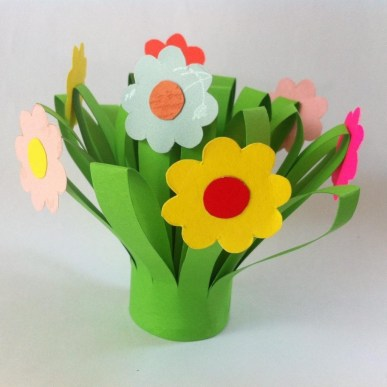 Paper Craft Flowers Bouquet Paper Flower Bouquet Fun Family Crafts