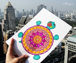 Paper Craft For Adults Papercraft Turtle Hattifant S Mandala Turtle To Color And Craft For
