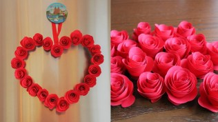 Paper Crafts For Wall Decor Diy Paper Heart Wall Hanging Easy Wall Decoration Ideas Paper