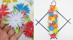 Paper Crafts For Wall Decor How To Make Diy Easy Paper Flowers Wall Hanging Beautiful Wall Decor