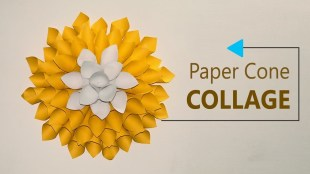 Paper Crafts For Wall Decor Paper Crafts Diy Wall Decoration Paper Cones Collage Home Decor Craft